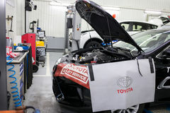 Vinnitsa, Ukraine - 23. Oktober 2016 Toyota-Service-Center, Auto Stockbild