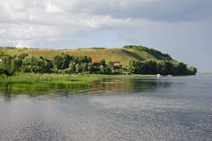 Vinnovka village just befor rain Royalty Free Stock Photography