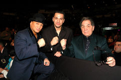 Vinny Paz, Sergio Mora and Tony DeMarco Royalty Free Stock Photos
