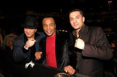 Vinny Paz, Zuckerstrahl Leonard und Sergio Mora. Stockfotografie