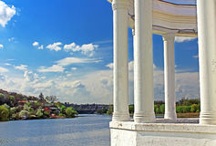 Vinnytsia city and Southern Buh, Ukraine. Vinnytsia city and Southern Buh in the spring, Ukraine Stock Photo