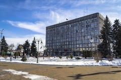 VINNYTSIA, de OEKRAÏNE - MAART 19, de stads uitvoerende Com van Vinnytsia van 2018 stock foto