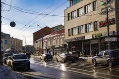 VINNYTSIA, UCRANIA - 19 de marzo de 2018 visión de la calle de Soborna Foto de archivo