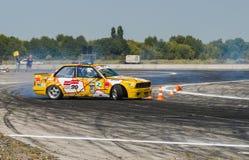 Rider Vladimir Palariev  on the car brand BMW   makes a mistake Royalty Free Stock Photos