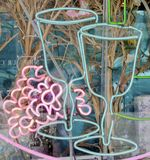 Vino al neon Fotografia Stock