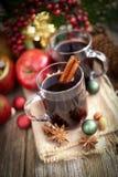 Vino aromatizzato caldo Immagini Stock Libere da Diritti