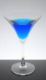 Vino azul con el vidrio Fotografía de archivo libre de regalías