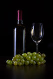Vino bianco in bottiglia Stock Photos