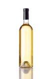 Vino bianco della bottiglia isolato Fotografie Stock Libere da Diritti