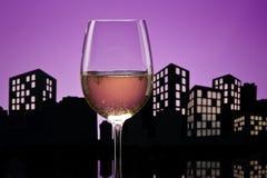 Vino bianco della metropoli Immagini Stock Libere da Diritti