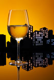 Vino bianco della metropoli Fotografia Stock