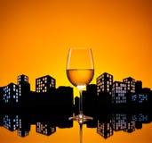 Vino bianco della metropoli Fotografia Stock Libera da Diritti