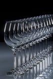 Vino bianco di vetro Fotografia Stock Libera da Diritti