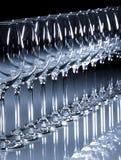 Vino bianco di vetro Fotografie Stock Libere da Diritti
