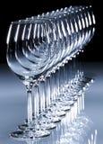Vino bianco di vetro Immagine Stock Libera da Diritti