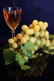 Vino bianco ed uva Immagine Stock Libera da Diritti