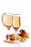 Vino blanco/champán Imagen de archivo libre de regalías