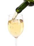 Vino blanco de cristal Foto de archivo