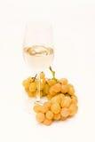 Vino blanco y uvas Fotos de archivo libres de regalías