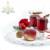 Vino caldo, tè per l'inverno Fotografie Stock Libere da Diritti