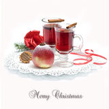 Vino caldo, tè per l'inverno Fotografia Stock