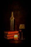 Vino da lume di candela Immagini Stock