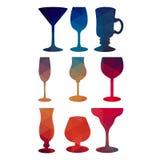 Vino de cristal del alcohol de la copa de vino del vector Fotografía de archivo
