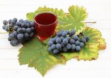 Vino de fruta con las uvas frescas Imagen de archivo libre de regalías
