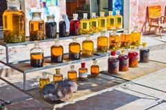 Vino de fruta y licor medicinal Fotografía de archivo libre de regalías