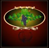 Vino de las uvas del barril Imagen de archivo libre de regalías