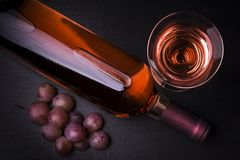 Vino de Rosé del origen italiano Fotografía de archivo