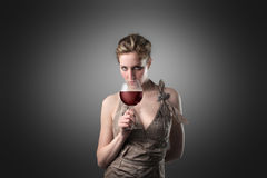 Vino-degustatore alla moda Fotografia Stock