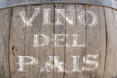 Vino del Pais. Spanish Table Wine Royalty Free Stock Photo