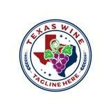 Vino del Texas dell'emblema di logo illustrazione vettoriale
