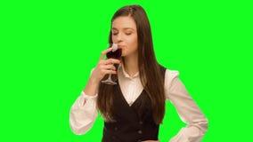 vino della bevanda della donna archivi video