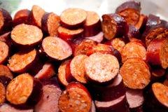 Vino di Al del Chorizo Fotografia Stock