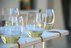 Vino di Franciacorta, Italia. Assaggio di vino. Fotografie Stock Libere da Diritti