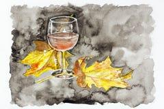Vino di notte di autunno di passione Immagine Stock