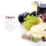 Vino e formaggio Fotografia Stock