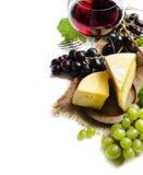 Vino e formaggio Fotografia Stock Libera da Diritti