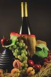 Vino e frutta Immagini Stock Libere da Diritti