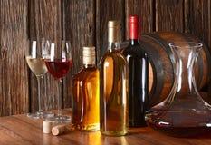 Vino e liquore fotografie stock