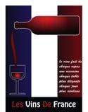 Vino francese Fotografia Stock