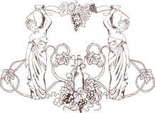 Vino greco Immagini Stock