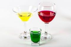 Vino, martini, licor del ajenjo Imagen de archivo libre de regalías