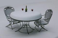 Vino 2P de la nieve Fotografía de archivo libre de regalías