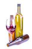 Vino rojo aislado Imágenes de archivo libres de regalías