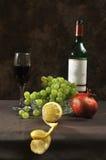 Vino rojo con las frutas Foto de archivo libre de regalías