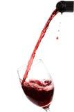 Vino rojo de cristal Foto de archivo