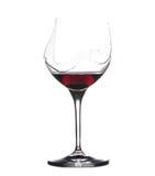 Vino rojo de la bebida del demonio en vidrio Imagen de archivo libre de regalías